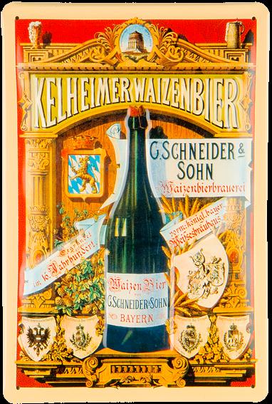 Plechová cedule pivo - Kelheimer Walzenbier