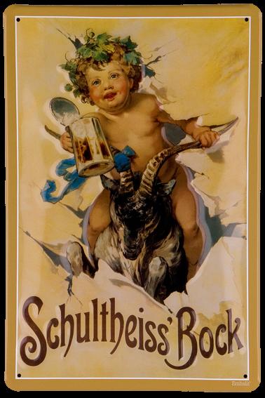 Plechová cedule pivo - Schultheiss Bock