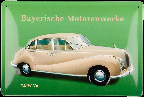 Plechová cedule auto BMW V8