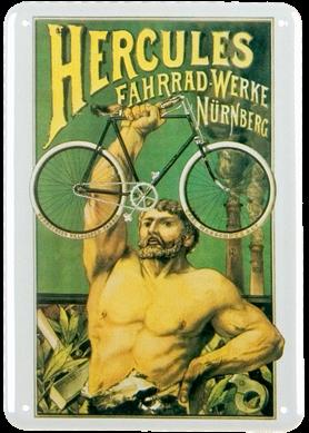 Plechová cedule kolo Hercules
