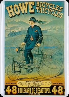 Plechová cedule kolo Howe Bicycles Tricycles