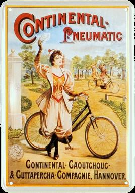 Plechová cedule kolo Continental Pneumatic