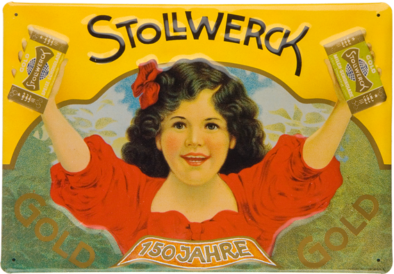 Plechová retro cedule Stollwerck čokoláda