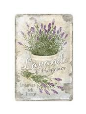 Plechová cedule Lavande de Provence - Levandule