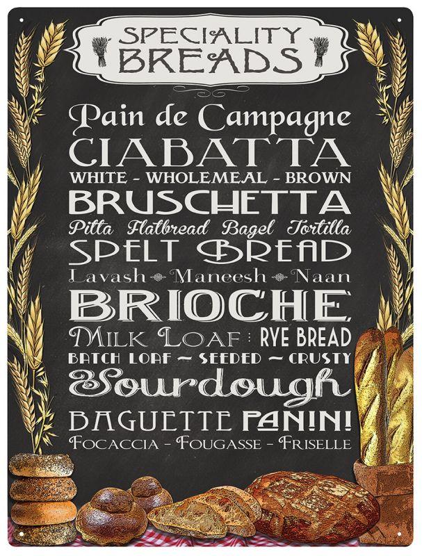Plechová cedule Speciality Bread's