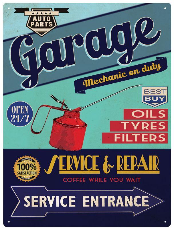 Plechová cedule Garage - Service Repair