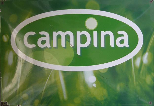 Reklamní smaltovaná cedule Campina