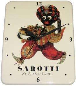 Plechové hodiny Sarotti