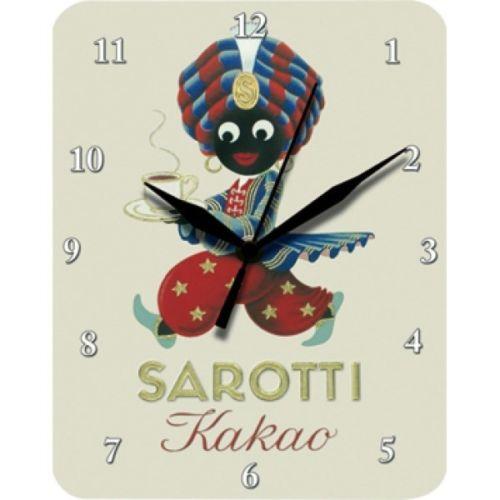Plechové hodiny Sarotti kakao