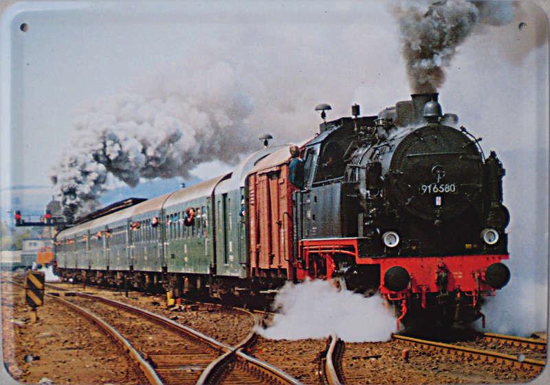 Plechová cedule Lokomotiva 916580 vlak