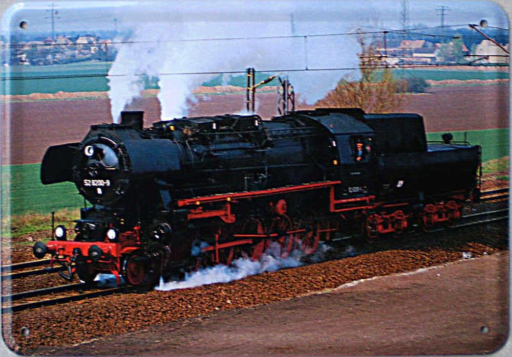 Plechová cedule Lokomotiva 528200-9 vlak