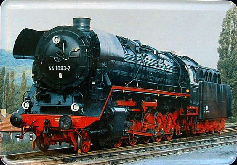 Plechová cedule Lokomotiva 441093-2 vlak