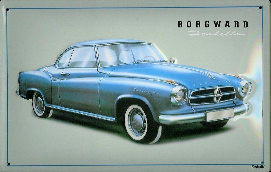 Plechová cedule auto Borgward Isabella