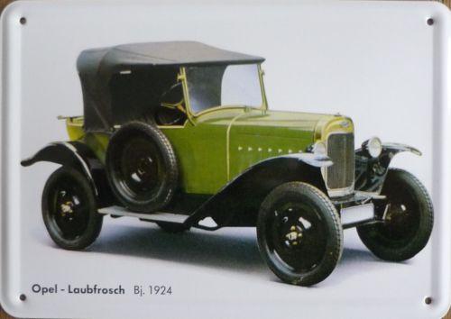 Plechová cedulka Opel Laubfrosch