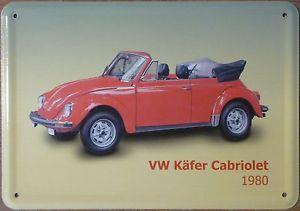 Plechová cedulka VW Kafer cabriolet - Brouk