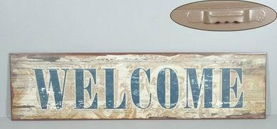 Plechová retro cedule Welcome