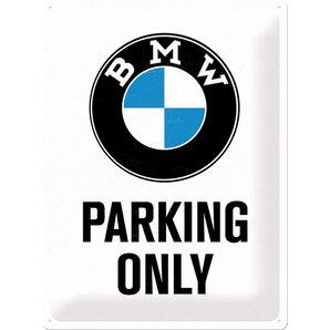 Plechová cedule BMW parking only