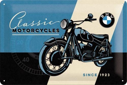 Plechová cedule motorka BMW Classic Mororcycles 1923