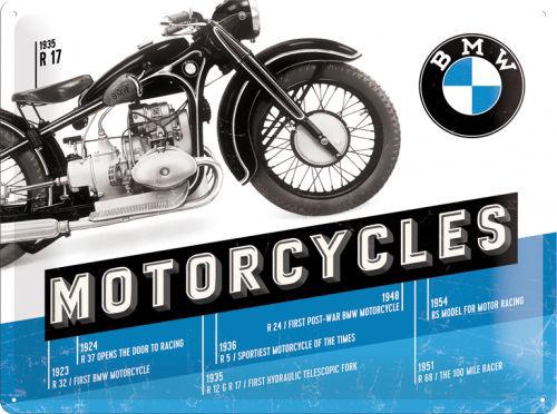 Plechová cedule motorka BMW Classic Mororcycles R17 1935