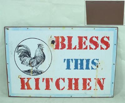 Plechová cedule Bless this kitchen
