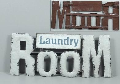 Plechová cedule Laundry room
