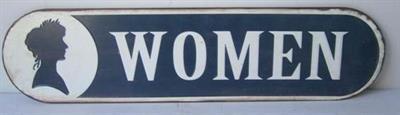 Plechová retro cedule Women