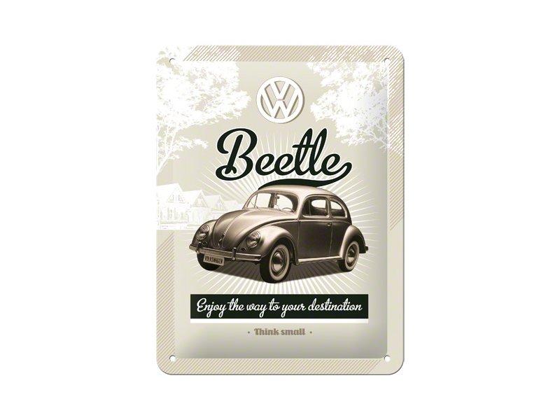 Plechová retro cedule VW Beetle