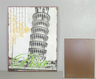 Plechová retro cedule věž Pisa