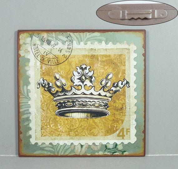 Plechová cedule Známka s korunou