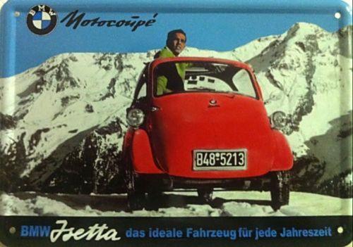 Plechová cedule auto BMW Motorcoupé Jsetta