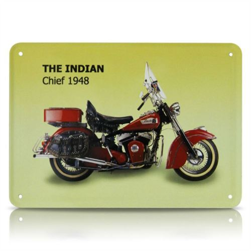Plechová cedule motorka The Indian chief 1948