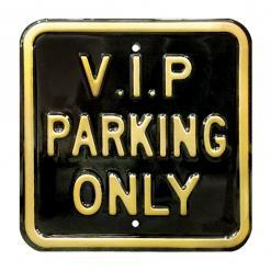 Plechová cedule Vip parking only