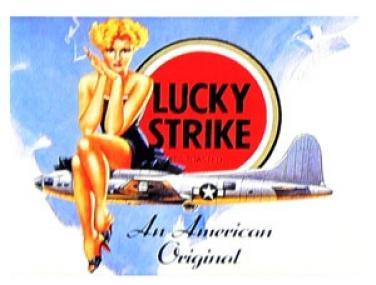 Plechova cedule Lucky Strike