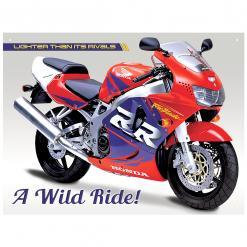 Plechová cedule motorka Honda Fire blade