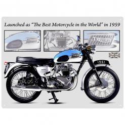 Plechová cedule motor Triumph Bonneville wall