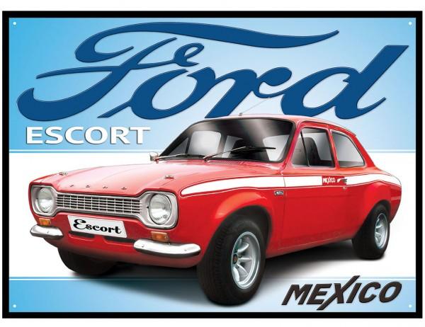 Plechová retro cedule Ford Escort - Mexico