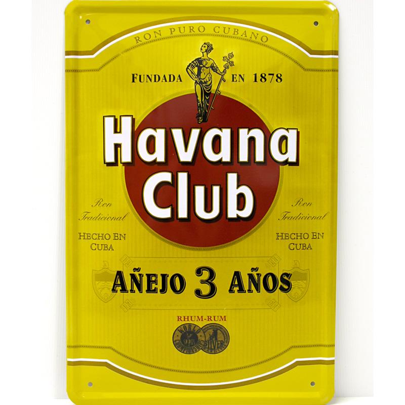 Plechová cedule Havana club - zelená