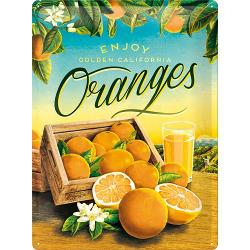 Plechová retro cedule Oranges
