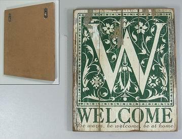 Dřevěná vintage cedule Welcome