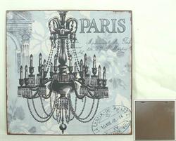 Plechová retro cedule Paris Lustr