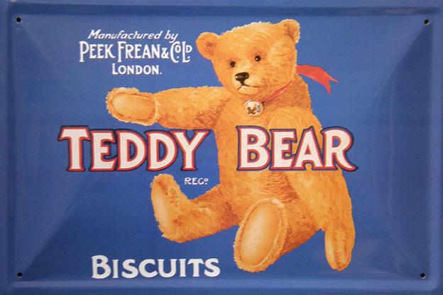 Plechová cedule Teddy Bear