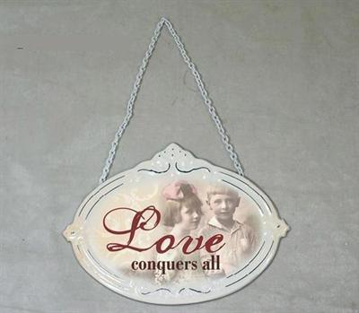 Plechová cedulka Love
