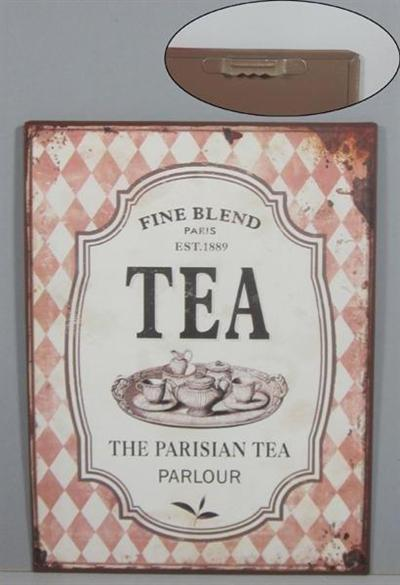 Plechová cedule The Parisian tea