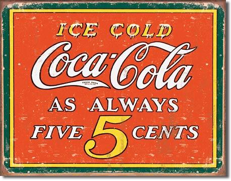 Plechová cedule Coca cola Ice cold