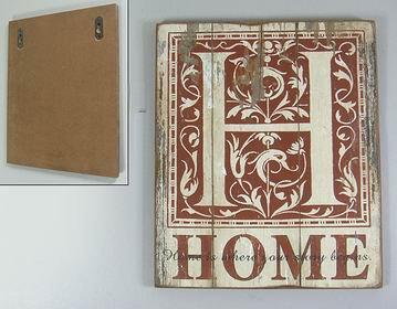 Dřevěná vintage cedule Home