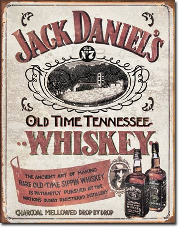 Plechová cedule Jack Daniels Old time Tennessee Sippin Whiskey
