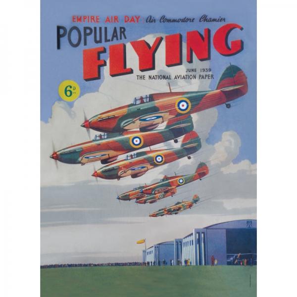 Plechová cedule Letadlo - Popular flying