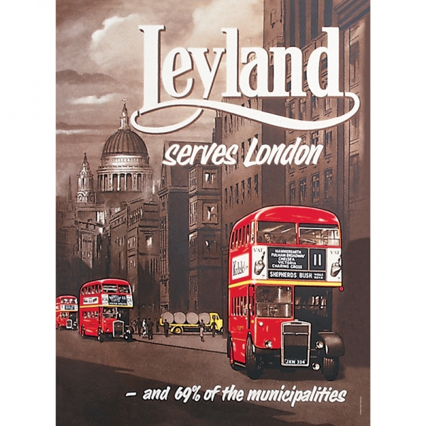 Plechová cedule Leyland - London bus
