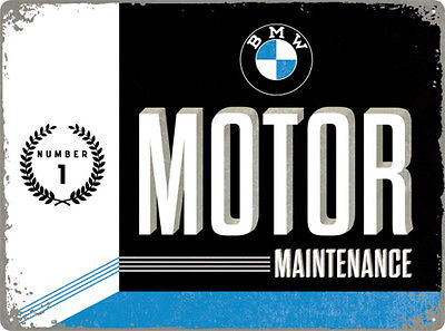 Plechová cedule BMW motor maintenance