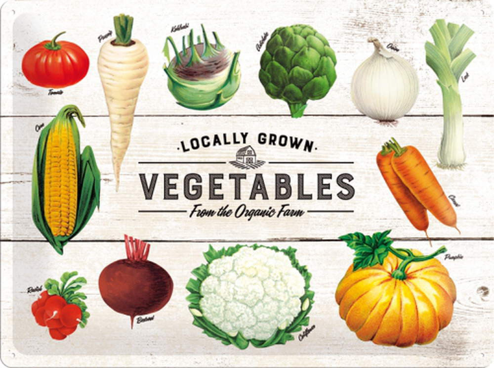 Plechová cedule Vegetables